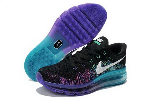 Nike Flyknit Air Max Womens Shoes Black Purple Blue Netherlands